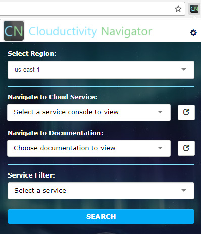 Cloud Services - Clouductivity Main Panel
