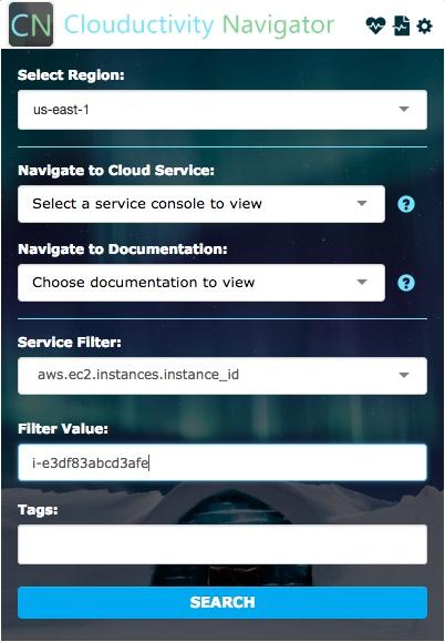 Cloud Services - Clouductivity Service Filter